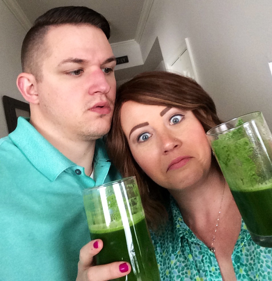 Unsure of our very first juice. (March 2014)